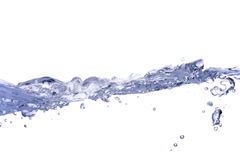 Flowing water. The purity of flowing water (isolated on white Stock Image