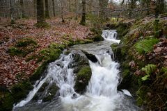 Flowing water in Ambleside, England. Stock Photos