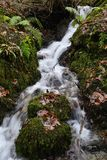 Flowing water in Ambleside, England. Royalty Free Stock Photography
