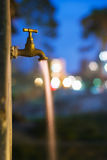 Flowing Water At Night Royalty Free Stock Photo