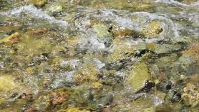 The flowing water on the beach stock video