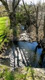 Flowing water. Beautiful Day walking Royalty Free Stock Images