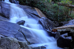 Flowing water captured with a slow shutter speed Royalty Free Stock Image