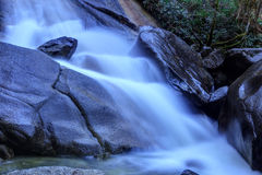 Flowing water captured with a slow shutter speed Royalty Free Stock Photos