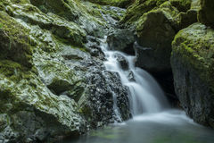 Flowing water in Cataract Falls Stock Image