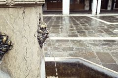 Drinking fountain in Venice Royalty Free Stock Photography