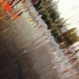 Through flowing water. Little. Simple picture royalty free stock photos