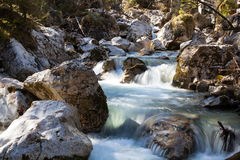 Flowing water. Long Exposure of water flowing down over stones Stock Photography