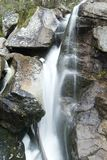Flowing water of mountain stream Royalty Free Stock Image