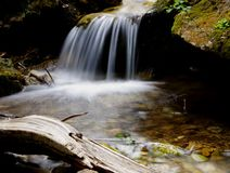 Flowing water of mountain stream Stock Image
