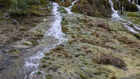 A flowing water in mountain video stock video footage