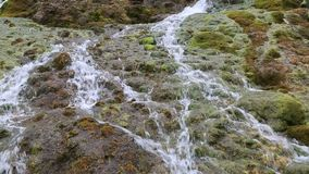 Flowing water in mountain video stock video