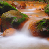 Flowing water in the river Royalty Free Stock Photo