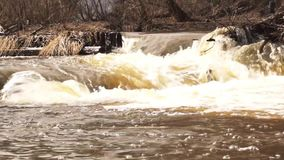 Flowing water in river stock footage