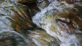 Flowing water in river stock video