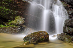 Flowing Water from Sanmin Bat Cave in Fuxing District, Taoyuan, Taiwan. Royalty Free Stock Photos