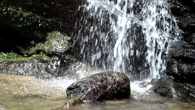 Flowing water from Sanmin Bat Cave in Fuxing District, Taoyuan, Taiwan. stock video footage