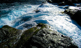 Flowing water. Water flowing in the shoreline of Cape Verde Royalty Free Stock Photo