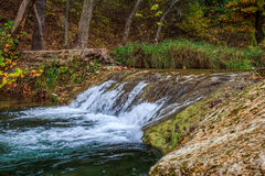 Flowing Water. A small water fall on Honey Creek in the Arbuckle Mts Stock Photography