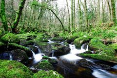 Flowing water. Small river in the middle of the Peak District national park, UK Stock Photo