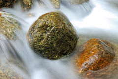 Flowing water in a stream Stock Images