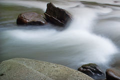 Flowing water on the Tellico Royalty Free Stock Photography