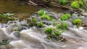 Flowing water timelapse stock footage