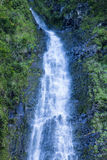 Flowing Water. The flowing water of the Waimoku falls in Maui stock photos