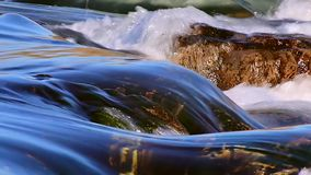 Flowing Water at the waterfall stock video footage