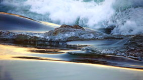 Flowing Water and wave Royalty Free Stock Photos