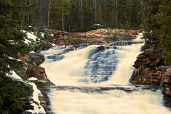 Flowing waterfall in the Uinta Mountains Royalty Free Stock Image