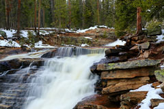 Flowing waterfall in the Uinta Mountains Royalty Free Stock Photo
