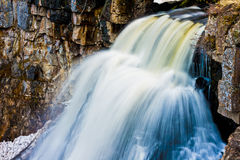 Flowing Waterfalls of Mineral Enrinched Waters in Yellowstone Na Royalty Free Stock Photography