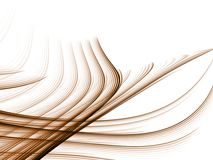 Flowing Weave, Light. Flowing lines from woven pattern against white (fractal abstract background Stock Photo
