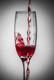 Flowing wine Stock Image