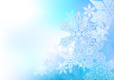 Flowing Winter Background Stock Photo
