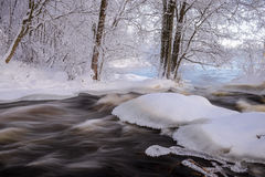Flowing winter scenery Royalty Free Stock Photos
