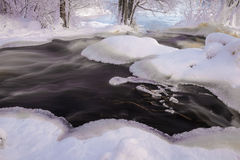 Flowing winter scenery Stock Photo