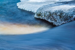 Flowing winter stream Royalty Free Stock Photography