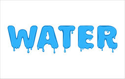 Flowing word made of water. Royalty Free Stock Photography