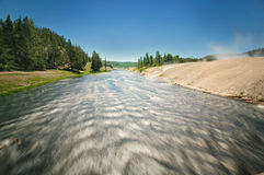 The flowing Yellowstone River Royalty Free Stock Image