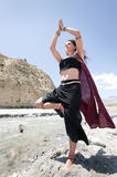 Flowing Yoga Woman  Stock Images