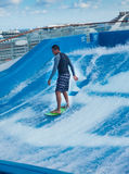 FlowRider on Cruise Ship Royalty Free Stock Images
