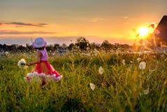 Flowrs da colheita da criança Imagens de Stock Royalty Free