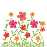 Flowrs en jardín stock de ilustración