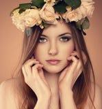 Flowrs hair model Stock Images