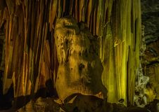 Flowstones στις διάσημες σπηλιές Cango στη Νότια Αφρική Στοκ εικόνα με δικαίωμα ελεύθερης χρήσης