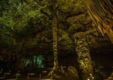 Flowstones στις διάσημες σπηλιές Cango στη Νότια Αφρική Στοκ φωτογραφία με δικαίωμα ελεύθερης χρήσης