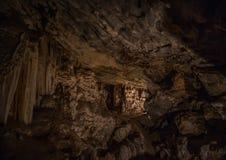 Flowstones nel Cango famoso frana il Sudafrica Fotografie Stock