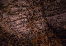 Flowstones nel Cango famoso frana il Sudafrica Fotografie Stock Libere da Diritti